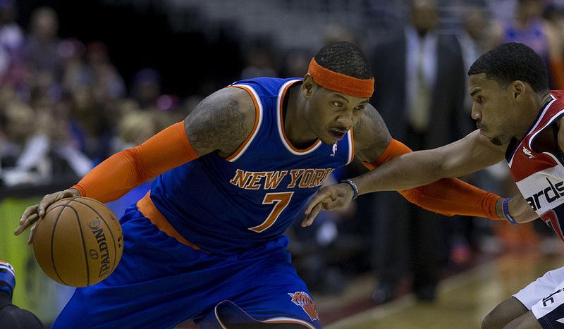 Carmelo Anthony langer ud efter sit hold