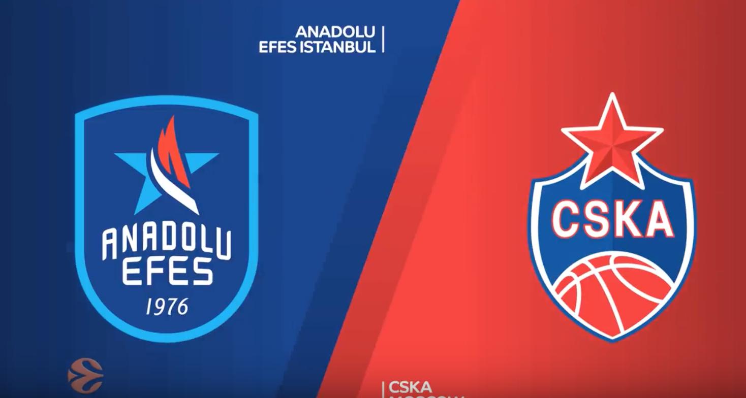 Højdepunkter fra finalen mellem Anadolu Efes Istanbul og CSKA Moscow
