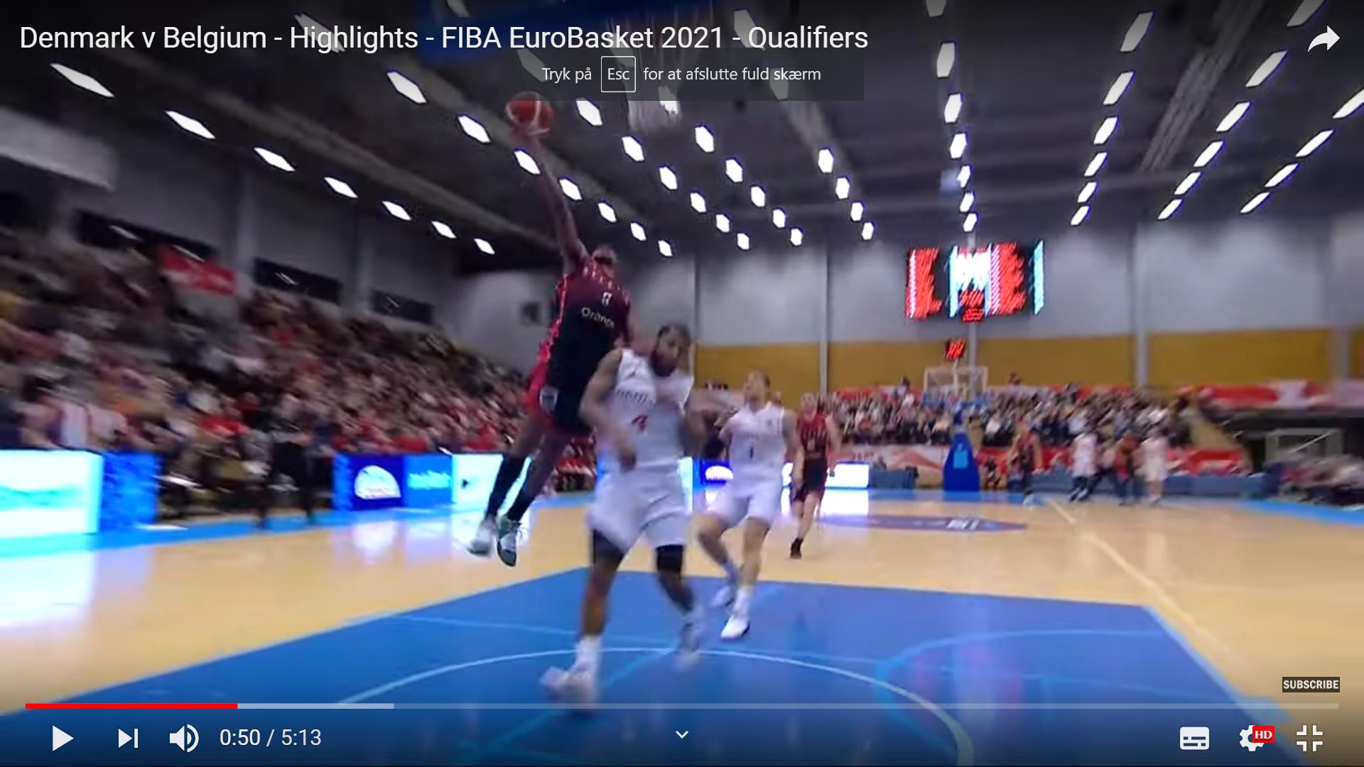 Highlights: Danmark – Belgien